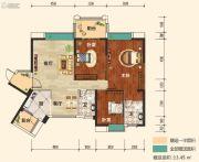 幸福东郡3室2厅2卫129平方米户型图