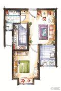 鸿泰乐颐小镇1室1厅1卫52--55平方米户型图