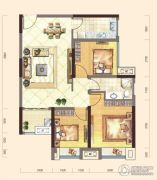 弘洋・拉菲小镇3室2厅1卫86平方米户型图