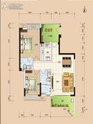 华安珑廷2室2厅2卫95平方米户型图