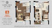 万科海上明月3室2厅2卫84平方米户型图