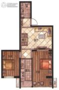 华富・瑞士名居2室2厅1卫77平方米户型图