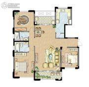 太湖锦园3室2厅2卫134平方米户型图
