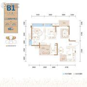 金茂国际生态新城3室2厅2卫104平方米户型图
