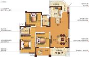 塞纳国际3室2厅2卫120平方米户型图