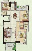 香樟美地3室2厅2卫145平方米户型图
