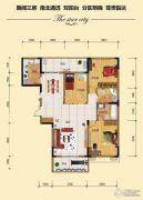 金江星城3室2厅2卫127平方米户型图