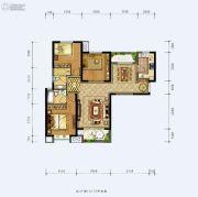 德杰状元府邸3室2厅2卫115平方米户型图