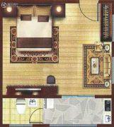 和信书香苑1室1厅1卫45平方米户型图