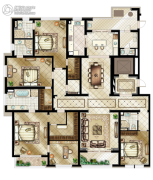 万源城御�E5室2厅5卫333平方米户型图