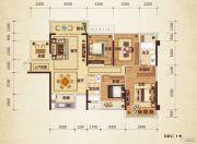 路桥锦绣国际3室2厅2卫95平方米户型图
