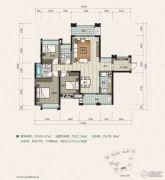 建曙高尔夫1号3室2厅2卫108平方米户型图