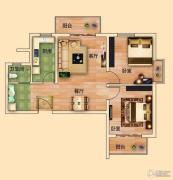 金河名都2室2厅1卫90平方米户型图
