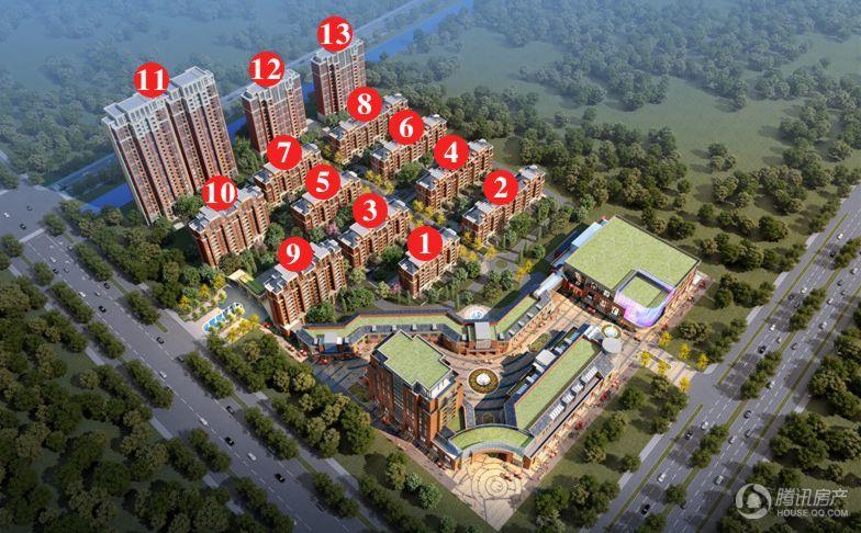 丝绸之路·泰州广场 多层 鸟瞰图