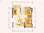 东方盛世豪庭2室2厅1卫0平方米户型图