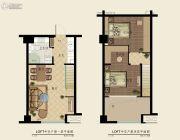 恒隆商业广场2室2厅1卫32平方米户型图