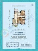 国厦云湾3室2厅2卫104平方米户型图