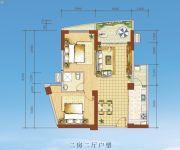 海岸国际假日花园2室2厅0卫85--89平方米户型图