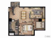 证大喜玛拉雅中心2室1厅1卫108平方米户型图
