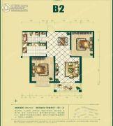 银泰逸翠园2室2厅1卫96平方米户型图