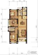 农房尚海湾3室2厅2卫89平方米户型图