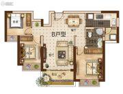 曲靖恒大绿洲3室2厅1卫102平方米户型图