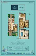 晖达新世界4室2厅2卫147平方米户型图
