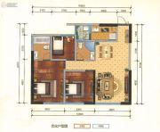 瑞鼎城3室2厅2卫105平方米户型图