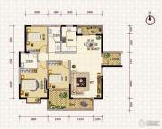 鹏利广场3室2厅2卫135平方米户型图