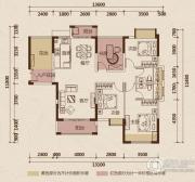 京华假日湾4室2厅2卫124平方米户型图