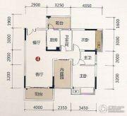 壹品湖山2室2厅1卫60--100平方米户型图
