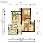 华润凤凰城2室2厅2卫0平方米户型图