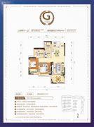 珠江・愉景新城3室2厅1卫0平方米户型图