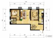 北郡帕提欧2室2厅1卫81平方米户型图