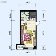 华府新天地1室1厅1卫50平方米户型图