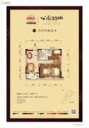 中国铁建・公园33263室2厅1卫102平方米户型图