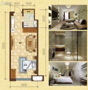 康桥美郡1室1厅1卫0平方米户型图
