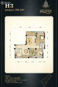 阳晨秀水湾2室2厅2卫106平方米户型图