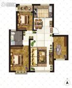 大成门3室2厅1卫112平方米户型图