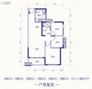 恒大依山海湾3室2厅1卫91平方米户型图
