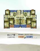 康辉・苏州壹号3室2厅2卫127--128平方米户型图