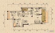 北麓国际城3室2厅2卫94平方米户型图
