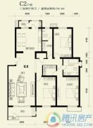 望都新地3室2厅2卫178平方米户型图