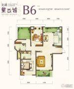 龙湖紫云台2室2厅2卫112平方米户型图