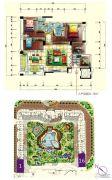 景观一品4室2厅3卫172平方米户型图
