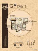 福港・好莱坞3室2厅2卫116平方米户型图