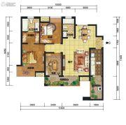 中交锦湾一期2室2厅1卫74平方米户型图
