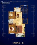 庆丰・御锦湾2室2厅1卫0平方米户型图