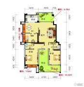 海御新天地3室2厅2卫136平方米户型图