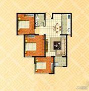 金色漫城3室2厅1卫103平方米户型图